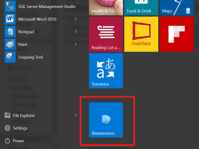 saved search in start menu