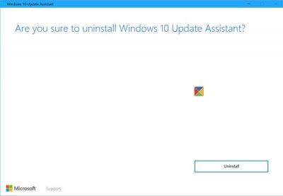 uninstall update assisstant
