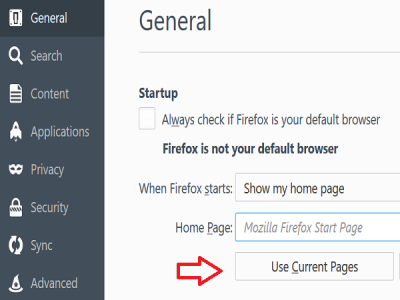 use current pages in firefox