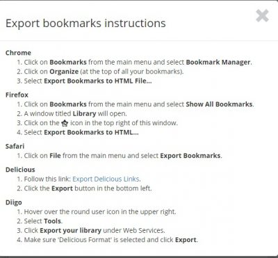 Bookmark OS to manage browser bookmarks