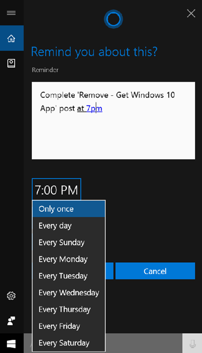cortana reminders windows 10 sticky notes