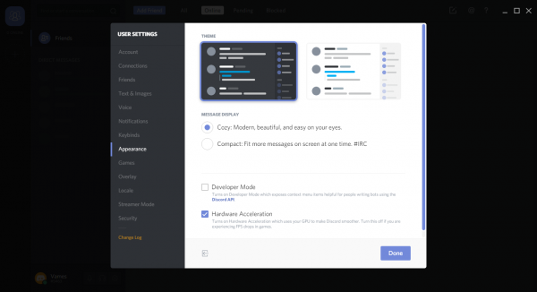 Discord chat app for PC Gamers