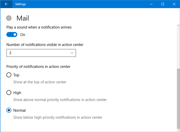 How to set priority of notifications in Windows 10 Action center-1