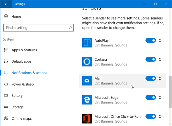 How to set priority of notifications in Windows 10 Action center