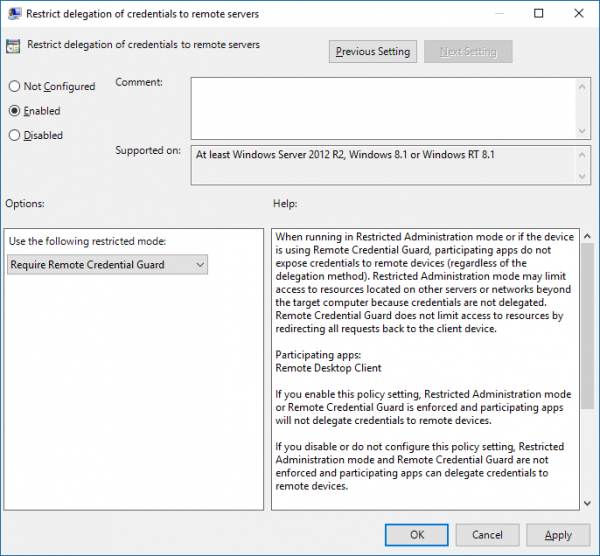 remote-credential-guard-group-policy