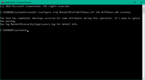Reset all Local Group Policy settings