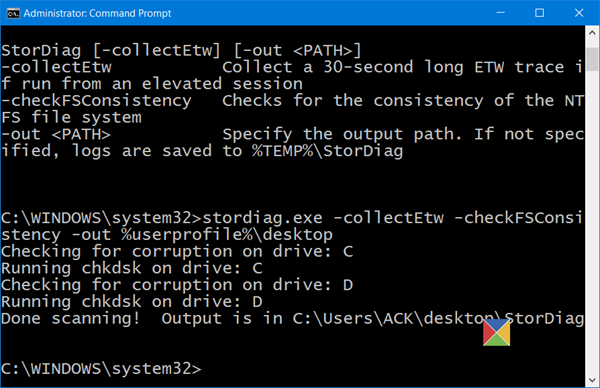 StorDiag.exe Storage Diagnostic Tool