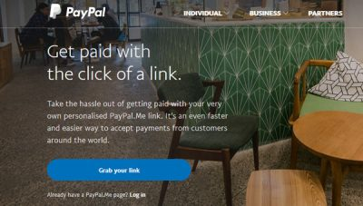 create a personal URL for PayPal payments