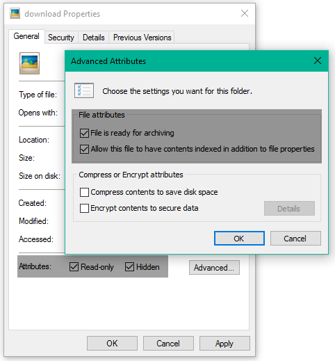 Add File Attributes option to Context menu