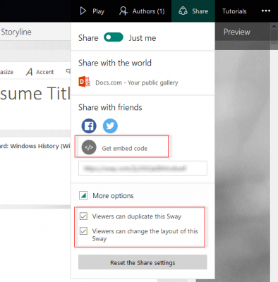 Microsoft Office Sway Online tips and tricks