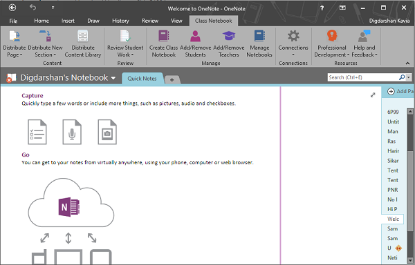 Install OneNote Class Notebook Add-in
