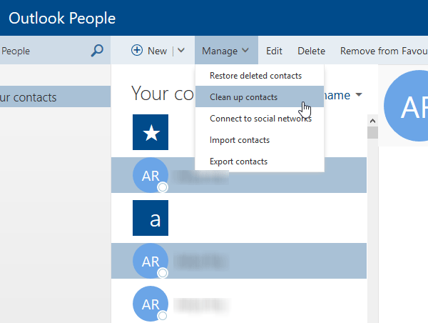 Tips and tricks of Outlook People
