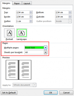 Create a Booklet or Book using Word
