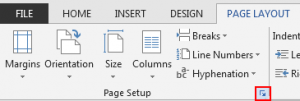 word-page-layout-option