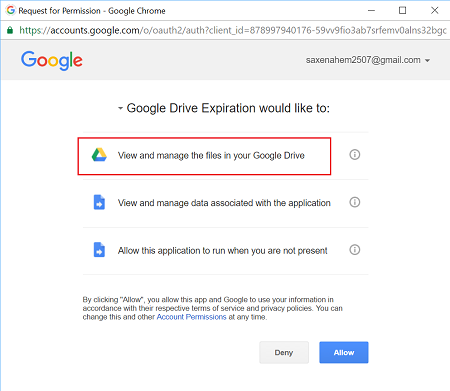 Set an Expiration Date for Google Drive files