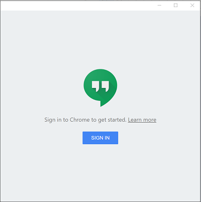 Google Hangouts extension for Chrome