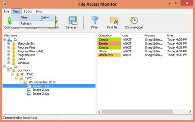 SoftPerfect File Access Monitor