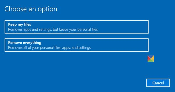 Reset this PC: Restore Windows 10 to factory settings without losing files