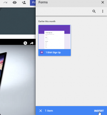 Add Google Forms google sites tips and tricks