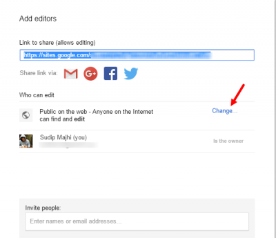 Google Sites tips and trick