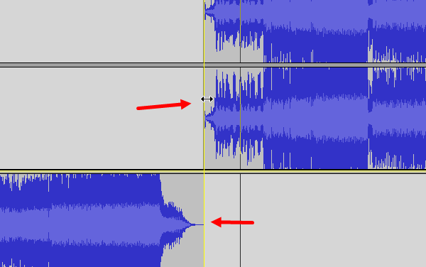 How to split and merge audio files using Audacity-3