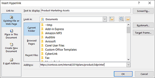 microsoft-outlook-insert-hyperlinks-option