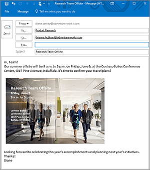 Microsoft Outlook Accessibility features