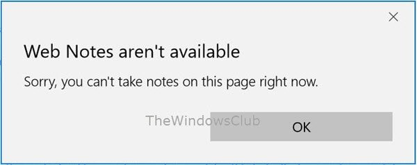 web notes arent available