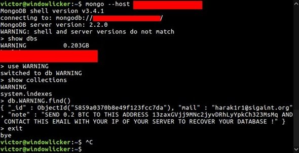 secure and protect MongoDB database from Ransomware