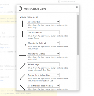 Mouse Gesture Events Best Chrome extensions to setup mouse gestures