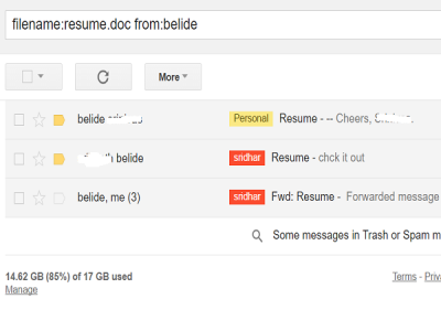 gmail search tips using filename