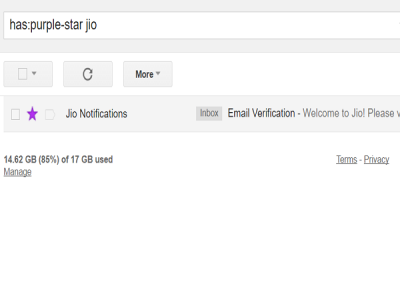 search starred emails in Gmail