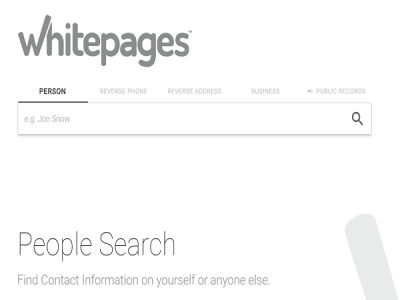 whitepages people search engine