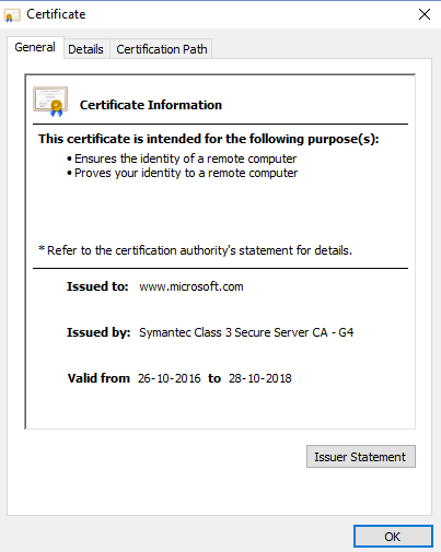 View Security Certificate in Chrome browser