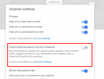 Customize channel layout - YouTube tutorials for video creators