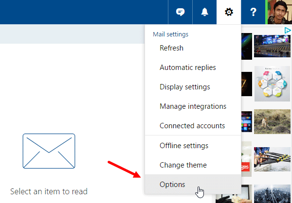 disable link preview in Outlook web