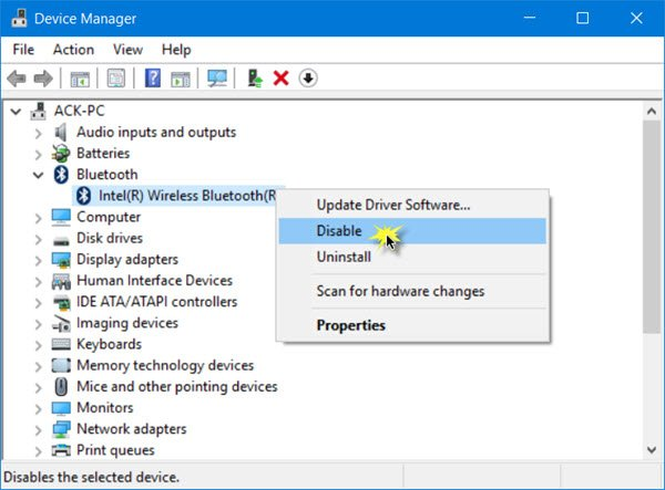 Turn off or disable bluetooth in windows 10 disable bluetooth in windows 10 ccuart Images
