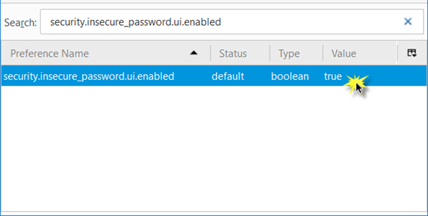 Disable Insecure Password Login Warning Prompt in Firefox
