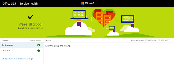 is outlook down