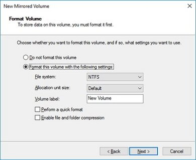 How to create Mirrored Volume for Instant Hard Drive Backup in Windows 10