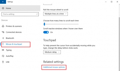 Reset Touchpad settings