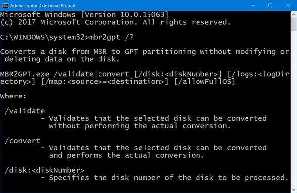 mbr2gpt MBR2GPT Disk Conversion Tool