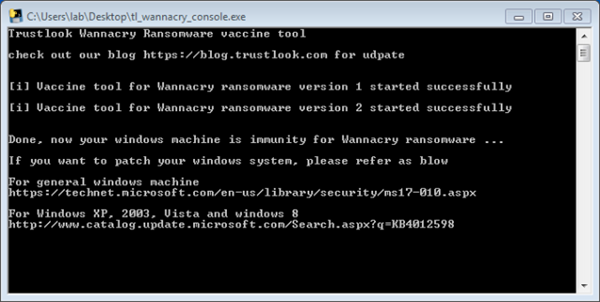 Free Vaccinator & Vulnerability Scanner Tools for WannaCry Ransomware