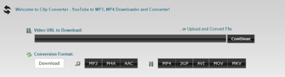 ClipConverter download songs from SoundCloud