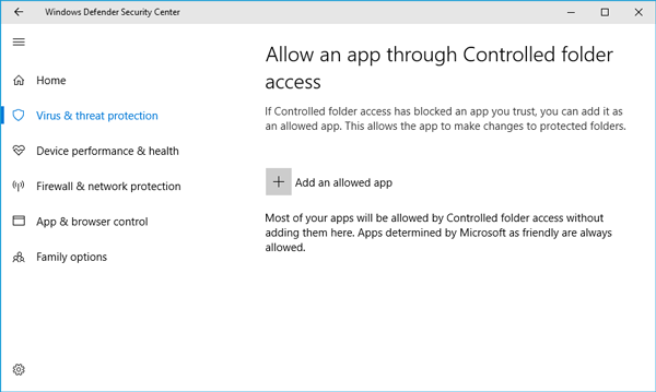 How to use Controlled Folder Access in Windows 10