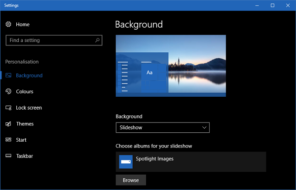 How to create custom themes in Windows 10