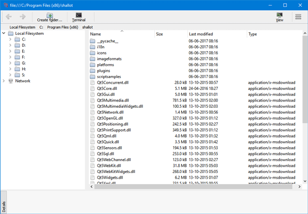 Shallot File Manager for Windows