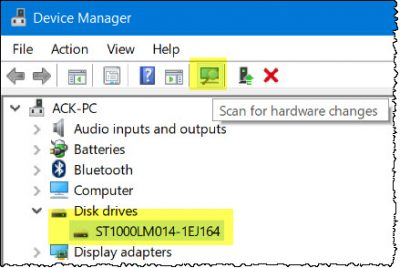 device manager The Disk structure is corrupted