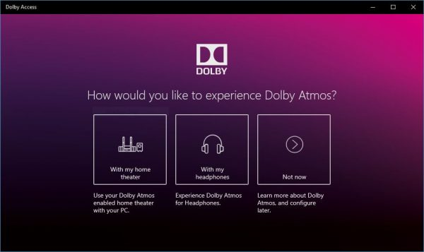 Enable Dolby Atmos on Windows 10