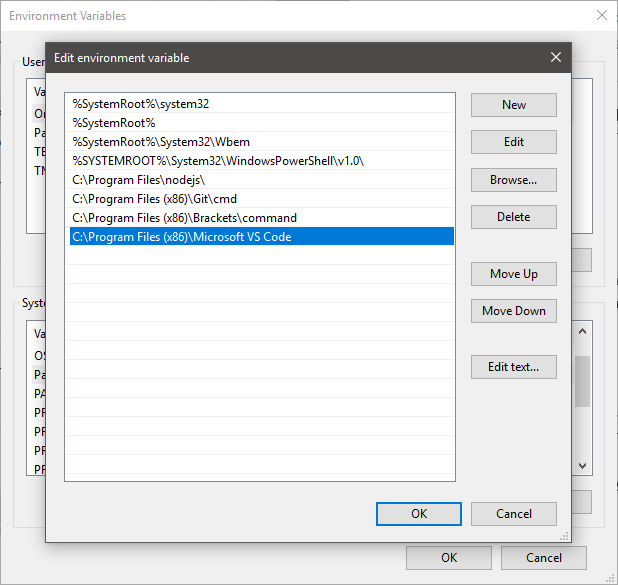 System & User Environment Variables in Windows 10 explained